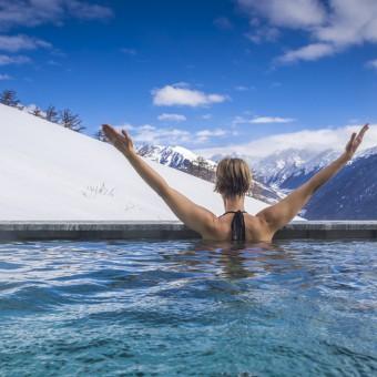 piscina de agua fría