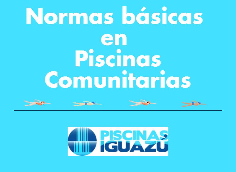 normas básicas en piscinas comunitarias