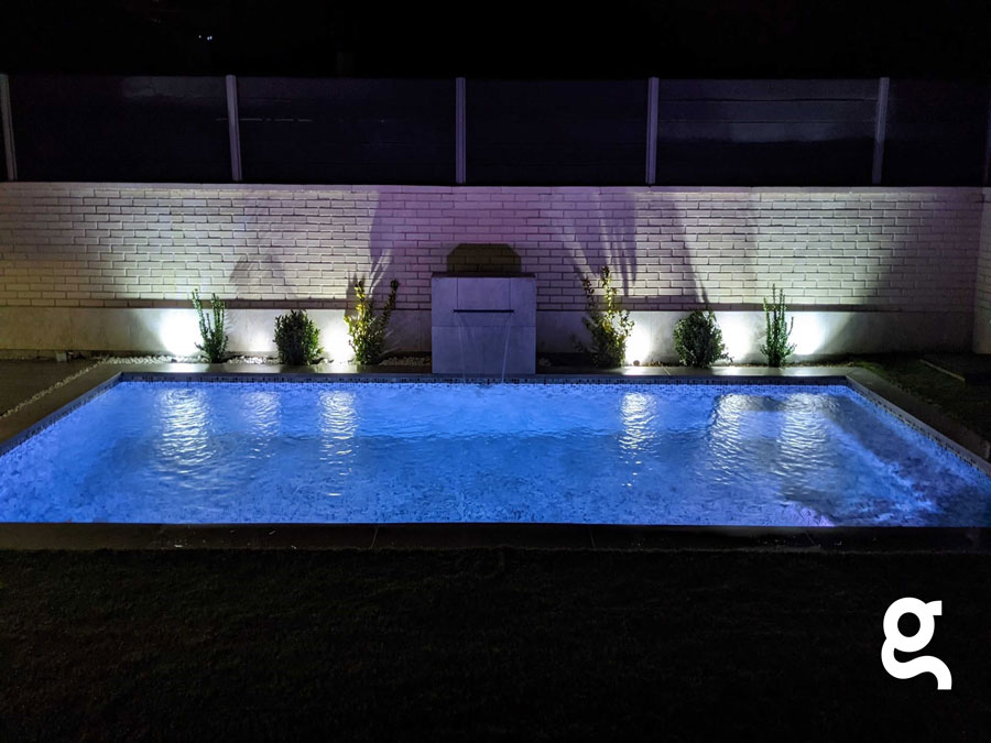 Piscina Vidrepur Nature Iluminación