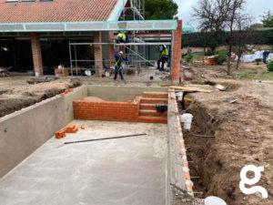 Construcción de Plataforma y escalera con ladrillo