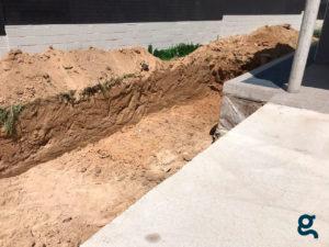 Excavación a cielo abierto en desmonte y vaciado de parcela