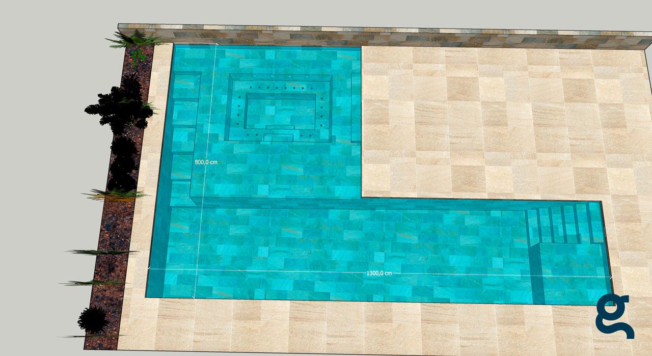 Infografía piscina Serena Mix