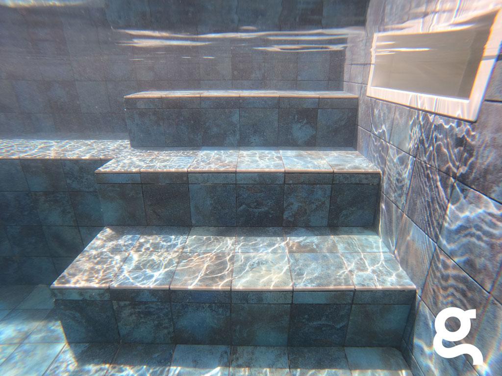 escalera piscina